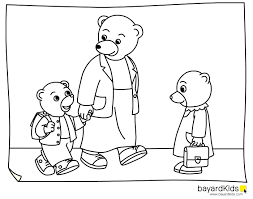 Little Brown Bear Coloring Pages Coloring For Kids Petit Ours