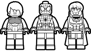 Small Picture Lego Spiderman and Lego Quicksilver Lego Gambit Coloring Book