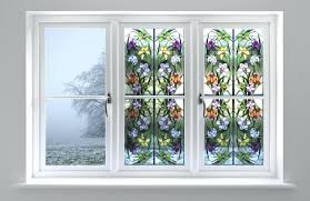 first stained glass window film stained glass flowers decorative films  stained glass