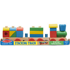 melissa doug stacking train classic wooden toddler toy 18 pcs com