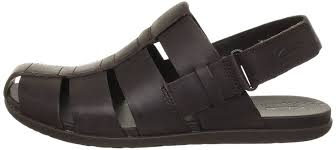 clarks mens casual valor sky leather sandals in black men s shoes clarks desert boots