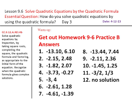 6 2 study guide solving quadratic equations by factoring answers