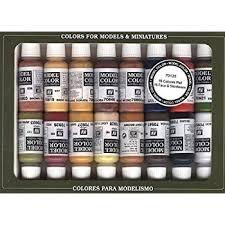 wood colored paintAmazoncom Vallejo FaceSkin Colors Paint Set 16Colors 17ml