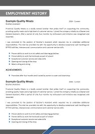 100 Resume Job Descriptions Examples Construction Job