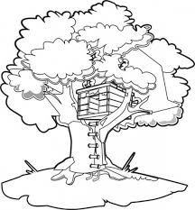 Small Picture Treehouse Coloring Pages allegiancewarscom allegiancewarscom