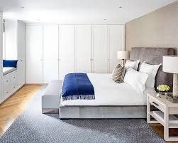 modern bedroom blue. Full Size Of Stylish And Minimalist Modern Bedroom With Chunky Tufted Headboard Also Royal Blue Accents