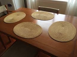 oval placemats round tables