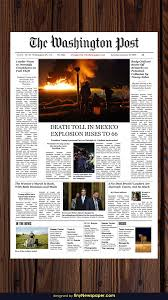 The Times Newspaper Template Blank Newspaper Template Pdf