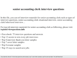 Accounting Interview Questions cover letter for accounting clerk sweetpartner 79