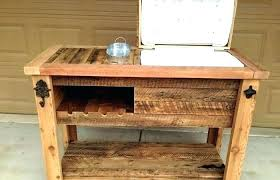 rustic wooden cooler ice chest plans wicker outdoor beverage patio coolers and texas wood