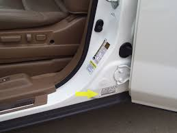 most honda and acura vehicles will have a vin sticker on all major body panels if they are the original panels these include the doors the fenders