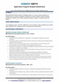 Application Support Analyst Sample Resume
