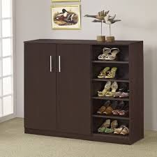 modern shoe racks storage with solid wooden