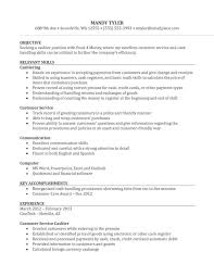 Examples Of Resume For Job Beauteous Resume Cashier Objective For Resume Cashier Job Objective For
