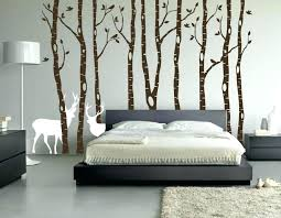 full size of birch tree winter forest vinyl wall decal art brown with snow and birds