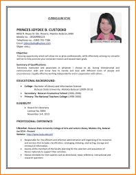 Resume Sample Resume For Job Interview Free Application
