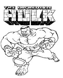 Printable Incredible Hulk Coloring Page For Kids Taylors B Day