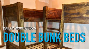 double bunk beds made with plans from jay s custom creations