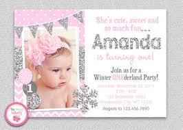 Snowflake Birthday Invitations Winter Wonderland Birthday Invitation Winter Wonderland