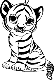 Top 20 tiger coloring pages: The Cutest Baby Tiger Coloring Page Free Printable Coloring Pages For Kids