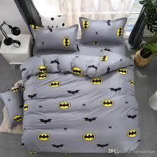 full size duvet cover. Cartoon Batman Duvet Cover Grey Bedding Set Kids Single Double Queen King Size Bed Sheets Bedclothes Sale Pretty Full