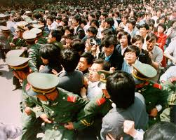 remembering the tiananmen square protests 26 years later crowds of jubilant students surge through a police cordon before pouring into tiananmen square during a