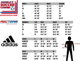 Adidas Youth Jersey Size Chart Apparel Ordering With Angelos Soccer Corner