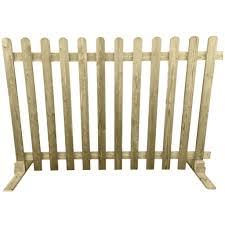 wood picket fence panels. Portable Freestanding Treated Wooden 6ft Picket Fence Panel 2ft 3ft Or 4ft High - Ruby UK Wood Panels R