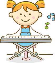 Image result for piano and baby clipart