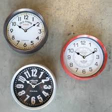 9 inch round wall clock set of 3