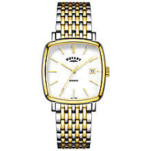 rotary men s watches john lewis buy rotary gb05306 01 men s windsor date two tone bracelet strap watch online at