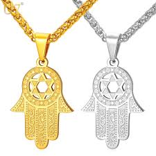 u7 new hand of miriam jewelry star of david israel pendant gift trendy snless steel amulet
