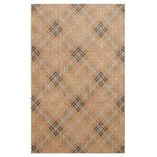 rus plaid natural 8 ft x 10 ft area rug