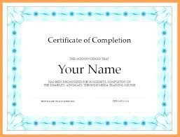 Best Of Certificate Completion Template Successful Award