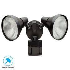 180 degree black motion sensing outdoor security light