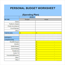 examples of personal budgets personal budgets examples resumess zigy co