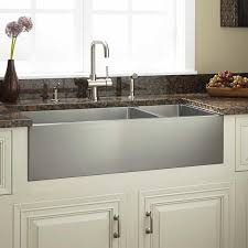 36 optimum 70 30 offset double bowl stainless steel farmhouse sink