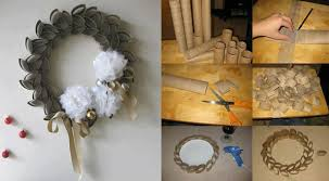 DIY Toilet Paper Roll Wreath DIY Projects