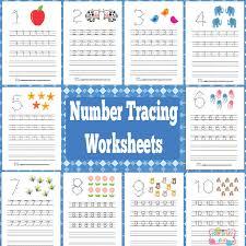 FREE Number Tracing Worksheets   Free Homeschool Deals ©