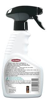 weiman leather cleaner and conditioner instrucitons on cover thumbnail