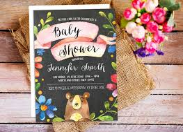 printable invitations for kids woodland bear baby shower invitation woodland kids birthday party