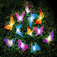 decorative string lighting. image butterfly solar string lights decorative multicolor beautiful animal design light 20 led lighting h