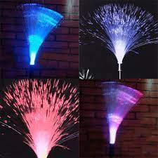 solar fibre optic led light garden