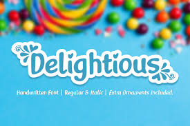 Download free handwritten fonts for commercial and personal use. Delightious Font By Jasm 7ntypes Creative Fabrica