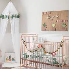 baby nursery baby room cactus room