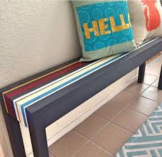 painted striped entryway bench chalk paint foyer painted furniture bench painted chalk paint