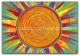 sun art archival print 5 x 7 colorful sun whimsical sun  on whimsical kitchen wall art with sun art archival print 5 x 7 colorful sun whimsical sun sun