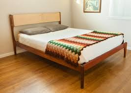 mid century modern platform bed frame  special mid century modern