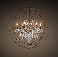 idea rustic orb chandelier for foucaults twin orb crystal chandelier rustic iron gotta have a little