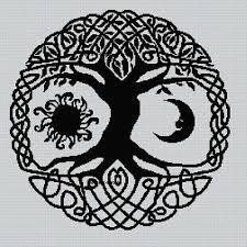 Celtic Tree Chart Blackwork Celtic Tree 2 Cross Stitch Chart 4 00